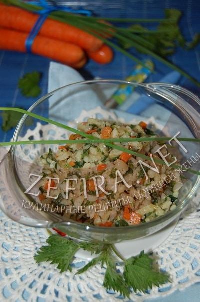 Зеленый рис с крапивой - рецепт и фото