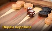 'Нарды короткие – Самые популярные нарды!' - Нарды короткие – наиболее популярная разновидность игры Нарды. Это игра на двоих, которая отличается от длинных нард способом расстановки шашек и правилами игры!